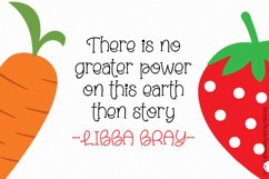 Carrot and Strawberry Font Product Image 3