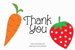 Carrot and Strawberry Font Product Image 2