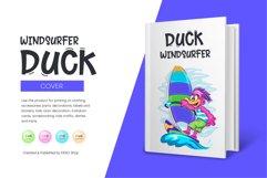 Cartoon Duck Windsurfer Product Image 4