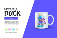 Cartoon Duck Windsurfer Product Image 2