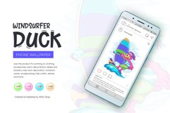 Cartoon Duck Windsurfer Product Image 5