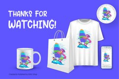 Cartoon Duck Windsurfer Product Image 6