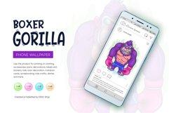 Cartoon Gorilla Boxer. Product Image 5
