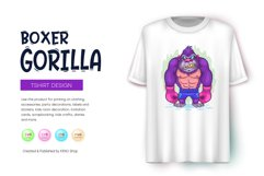 Cartoon Gorilla Boxer. Product Image 3