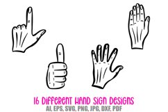 Hand Signs and Signals Icon Logo Design Cartoons Collection Product Image 3
