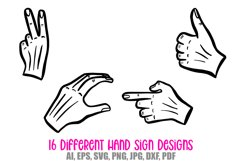Hand Signs and Signals Icon Logo Design Cartoons Collection Product Image 2
