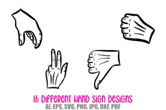 Hand Signs and Signals Icon Logo Design Cartoons Collection Product Image 4