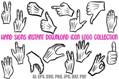 Hand Signs and Signals Icon Logo Design Cartoons Collection Product Image 1