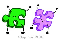 Jigsaw Puzzle Pieces Cartoon Characters! SVG, PNG, JPG, EPS Product Image 2