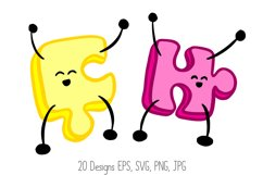 Jigsaw Puzzle Pieces Cartoon Characters! SVG, PNG, JPG, EPS Product Image 4