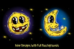 Man In The Moon Cartoon Characters JPG, EPS, SVG, PNG Product Image 6