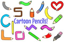 178 Coloured Pencil Cartoon Illustration Bundle Product Image 1