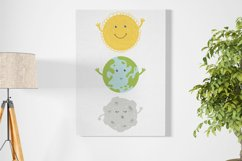 Cartoon Solar System Space Planet Clipart Graphic Product Image 2