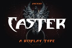 Caster - Display Type Font Product Image 1