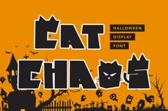 Cat Chaos - Halloween Display Font Product Image 1