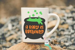 A Baby is Brewing - Halloween SVG with Witch Cauldron Product Image 3