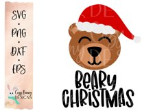Beary Christmas SVG - Santa Bear Product Image 2