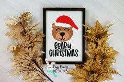 Beary Christmas SVG - Santa Bear Product Image 3