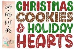 Christmas Cookies and Holiday Hearts SVG - Christmas SVG Product Image 2