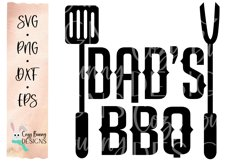 Dad's BBQ SVG - Father's Day SVG - Grilling, Barbeque Product Image 2