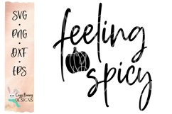 Feeling Spicy SVG - Pumpkin Spice SVG Product Image 2