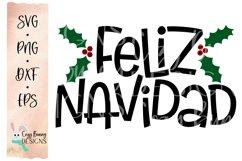 Feliz Navidad SVG - Spanish Christmas SVG Product Image 2