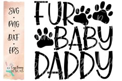 Fur Baby Daddy SVG - Father's Day SVG Product Image 2