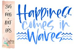 Happiness Comes in Waves SVG - Mental Health Awareness SVG Product Image 2