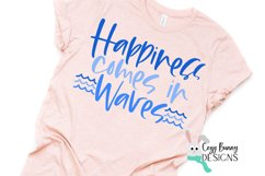 Happiness Comes in Waves SVG - Mental Health Awareness SVG Product Image 1