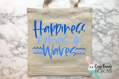 Happiness Comes in Waves SVG - Mental Health Awareness SVG Product Image 3