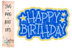 Happy Birthday SVG Cake Topper Product Image 2
