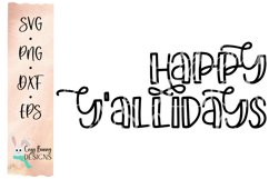 Happy Y'allidays SVG - Christmas SVG Product Image 2