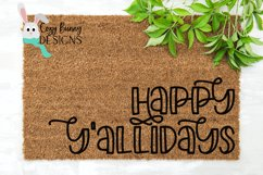 Happy Y'allidays SVG - Christmas SVG Product Image 1