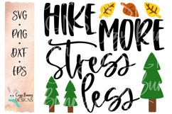 Hike More Stress Less SVG - Camping Hiking Outdoor SVG Product Image 2