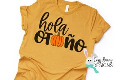 Hola Otono - Pumpkin SVG - Spanish Halloween SVG Product Image 3