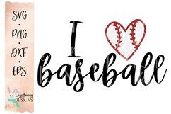 I Love Baseball SVG Product Image 2