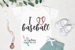 I Love Baseball SVG Product Image 1