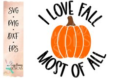 I Love Fall Most of All - Pumpkin SVG - Halloween SVG Product Image 2
