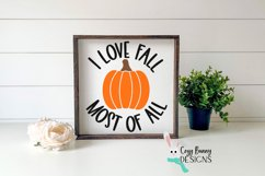 I Love Fall Most of All - Pumpkin SVG - Halloween SVG Product Image 3