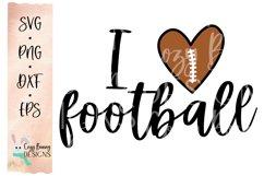 I Love Football SVG Product Image 2