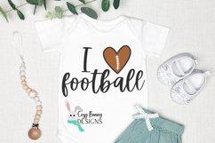 I Love Football SVG Product Image 1