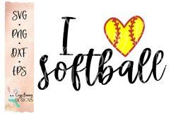 I Love Softball SVG Product Image 2