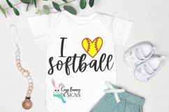 I Love Softball SVG Product Image 1
