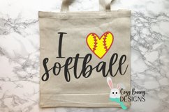 I Love Softball SVG Product Image 3