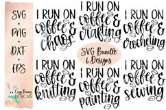 I Run on Coffee & Crafting SVG Bundle Product Image 1