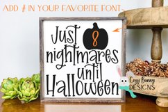 Halloween Countdown SVG with Pumpkin Product Image 1