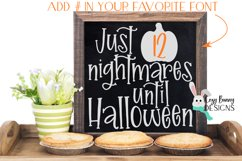 Halloween Countdown SVG with Pumpkin Product Image 3