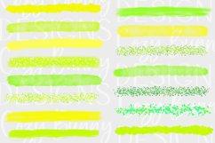 Lemon Lime Brush Strokes - Yellow, Green Bundle - Lemon SVG Product Image 2