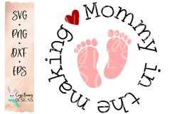 Mommy in the Making SVG - Pregnancy Announcement SVG Product Image 2