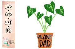 Plant Dad SVG - Father's Day SVG - Monstera Clipart Product Image 2